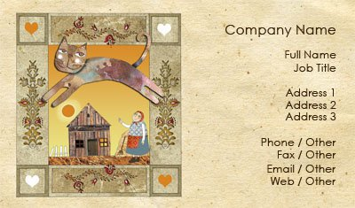 Fairytale Cat Business Card Template
